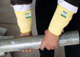 뜨개질을 한 방열은 노동자를 위한 손목 강장제를 반대로 잘랐다