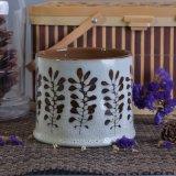 supporti di candela di ceramica di fragranza del reticolo di fiore 478ml