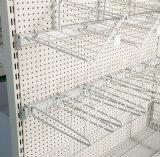 Supermarkt-Gebrauchsgut-Bildschirmanzeige-Regal-Haken-hängendes Metallfach