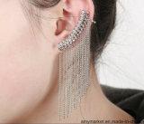 간단한 술 형식 귀걸이 수정같은 클립 귀걸이 은 또는 황금