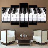 5 холстины частей рояля искусствоа пользуются ключом напечатанные HD изображения стены декора дома картины холстины плаката нот для живущий комнаты