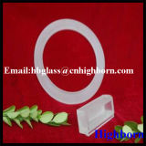 Opaque flasque de verre de quartz silice fondue