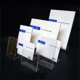 La garniture intérieure latérale, pente d'acrylique d'espace libre en arrière signent le support, bâti d'annonce de type de verticale
