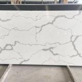 Laje de cristal artificial projetada material marmoreando da pedra de quartzo da bancada