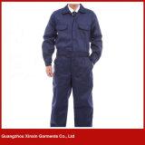 Usure faite sur commande de travail de sûreté de bleu marine de coton d'usine de Guangzhou (W260)