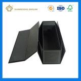Noir de haute qualité Fancy le papier à plat emballés à l'emballage de pliage Box (Boîte en carton fait main)