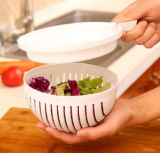 Cortadora Cortadora de ensalada de verduras ensalada de plástico el tazón el tazón de corte