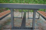 2018新しいデザインプラスチック木製の物質的な屋外のチェアーテーブル