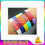 Spitzenverkaufs-kundenspezifische Anzeigen-Firmenzeichen-Form-spezielles Segen-Silikon-Armband