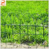 Recubierto de PVC verde jardín cercas de alambre de la Frontera