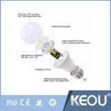 bulbo redondo do diodo emissor de luz da base de parafuso de 9W A65 E27