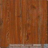 赤い木の建築材料の艶をかけられた大理石の磨かれた磁器の床タイル(VRP6D055)