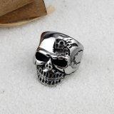 Anello punk del cranio dell'acciaio inossidabile degli uomini dei monili del motociclista di vendita calda