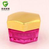 Design Irregular rosa do frasco de vidro de cosméticos da Série de pacote