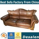 La mejor calidad de estilo real Muebles de salón sofá de cuero auténtico (A60).