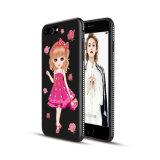 El teléfono ULTRAVIOLETA lindo de lujo modificado para requisitos particulares del OEM TPU de la impresión encajona barato para el iPhone 7