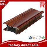 Profil en bois en aluminium/en aluminium de couleur pour le guichet et la porte