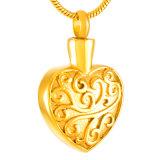 De Halsband van de Tegenhanger van de Crematie van het Roestvrij staal van de Urn van de Herinnering van de As van het hart