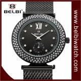 Belbi Armbanduhr der LuxuxEdelstahl-wasserdichte Quarz-Dame-Analog