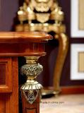 0029イタリアの高貴な木の家具様式の贅沢な真鍮の装飾棒表
