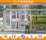 Puerta de madera de aluminio superventas de la transferencia del grano hecha en Foshan