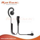 C-Form-Ohr-Haken-Hörmuschel mit Inline-Postverwaltung-Mikrofon für Motorola-Radios