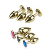 جنس لعبة شرجيّ لأنّ [سإكسول لوف] متعة, كبيرة حجم [ستينلسّ ستيل] مجوهرات بلّوريّة شرجيّ سدادة طرف سدادة جنس منتوج