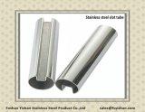 Pipe ronde de fente d'acier inoxydable de solides solubles 304 ASTM A554 pour le serrage en verre