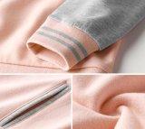 As mulheres Cubra a capa externa do Inverno 100%Blusa com capuz de algodão