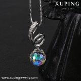 Necklace-00420 Xuping kundenspezifische Firmenzeichen-Halskette mit Pendent Kristallen von Swarovski