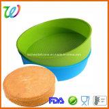 Carter de traitement au four de pain de gâteau rond de silicones de matériel de pâtisserie d'usine