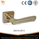 Levier en alliage de zinc Poignée de porte, Fashion Style avec casier (Z6320-ZR09)