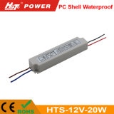 12V 1A wasserdichte LED Stromversorgungen-Cer RoHS Hts-Plastikserien