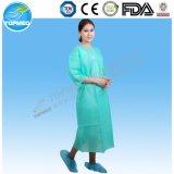 Medizinisches Krankenhaus-Wegwerfkleid, SMS Kleid, gelbes Lokalisierungs-Kleid