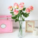 fiori decorativi di seta Rosa della Rosa Italia del fiore artificiale di 53cm da vendere