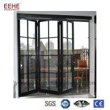 Puerta principal de cristal plegable del pivote de aluminio de China