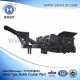 Installatie van het Wiel van de Machines van de Leverancier van Shanghai de Minerale Mobiele Verpletterende
