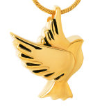美しいペット鳩の吊り下げ式の平和鳥の火葬の記念物のネックレス