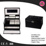 標準的なピンクの記憶装置のパッケージPUの革宝石箱(8684)