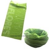 中国の工場農産物はロゴによって印刷された緑24*50cm Microfiberの表面管のターバンをカスタマイズした
