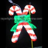 2017 populares bastón de caramelo personalizadas luces decorativas de Navidad de la iluminación exterior