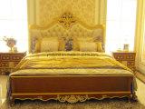 0050 إيطاليا كلاسيكيّة ملكيّة أسلوب فضة تغطية ينحت [سليد ووود] سرير غرفة تجميع