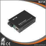 Unmanaged Gigabit-Ethernet-Media-Konverter 1X 10/100/1000Base-T RJ45 zu 1X 1000Base-X SC/FC/ST, Doppelfaser, 1550nm 60km.