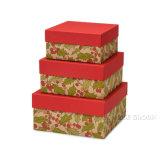 De harde Afgedrukte Reeks van de Doos van de Verpakking van de Doos van de Gift van Kerstmis van de Dozen van het Karton Grote