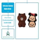 Belle caricature animaux personnalisés en silicone souple de téléphone d'injection de cas de protection en caoutchouc