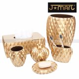 Royal Luxury Hotel Resin Bathroom Set with Gold Hand Painted
