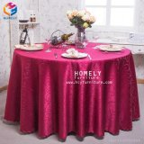Ouotdoorの結婚式のための熱い販売ポリエステル平野のジャカードテーブルクロス