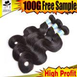 Cheveux bruns bruxellois en vente chaude