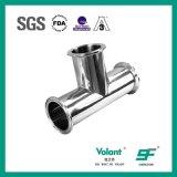 L'acier inoxydable sanitaire Triclover d'ajustage de précision de pipe termine le té égal