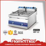 1 panier du réservoir 1 en friteuse électrique de puce de la Chine de vente (HEF-81)